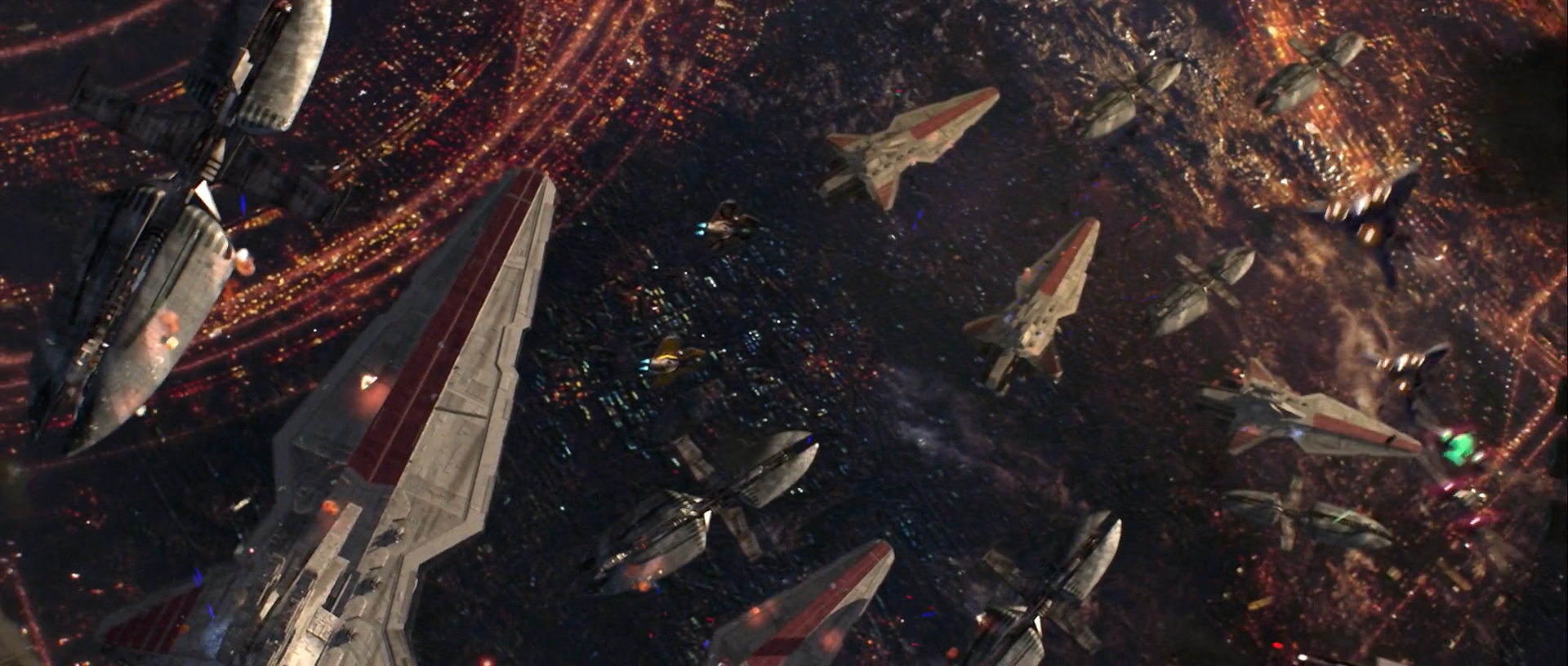 Palpatine Survives the Battle of Coruscant